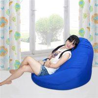 Ghế lười quả lê màu Xanh Lam (Chất liệu Kate Phi) Size M