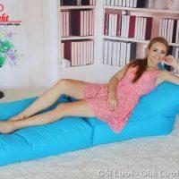 Gối lười hạt xốp Sofa kiêm giường GL112 (Chất liệu Kate phi mát lạnh)