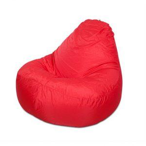 Ghế lười quả lê màu đỏ GL026 size trung (Chất liệu Kate Phi) Size M