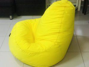 Ghế lười hạt xốp quả lê màu vàng tươi (Chất liệu kate phi) Size M