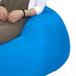 Gối lười hạt xốp hình giọt nước màu Xanh nước biển (Chất liệu Kate phi mát lạnh) Size M