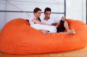 Ghế Sofa GL110 (Chất liệu Nhung Lạnh Hàn Quốc) màu Xanh da trời, cỡ đại ngồi cho nhiều người