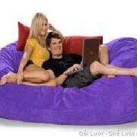 Ghế Sofa GL081 (Chất liệu Nhung Lạnh Hàn Quốc) màu Tím, cỡ đại ngồi cho nhiều người