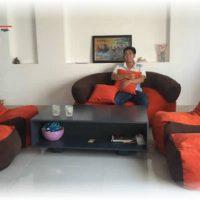 Trọn bộ ghế Sofa kiểu lười (Chất liệu Nhung lạnh nhập khẩu cao cấp)