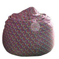 Ghế lười hình giọt nước Beanbag Chair kích thước 80×110 cm (Chất liệu vải nhung lạnh Hoa Văn)