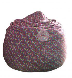 Ghế lười hình giọt nước Beanbag Chair kích thước 80x110 cm (Chất liệu vải nhung lạnh Hoa Văn)
