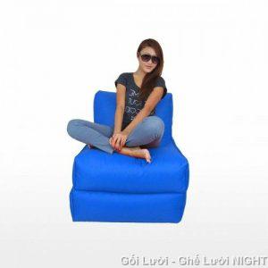 Gối lười hạt xốp Sofa kiêm giường GL166 (Chất liệu Kate phi mát lạnh)