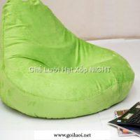 Ghế lười quả lê màu Xanh Cốm GL160 (Chất liệu nhung lạnh Hàn Quốc) Size M