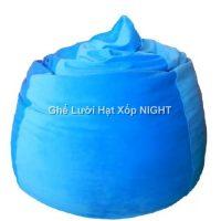 Gối lười hạt xốp hình giọt nước màu Xanh Nước Biển GL164 (Chất liệu Nhung Lạnh) Size M