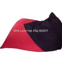 Gối lười Kim Tử Tháp phối màu Đỏ – Đen GL163 (Chất liệu Nhung lạnh hàn quốc) Size M