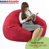 Ghế lười Trụ tròn (hình trứng) phối màu đỏ đô GL206 (Chất liệu Microsuite ) Size M