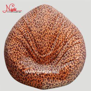 Gối lười hạt xốp hình giọt nước phối màu da beo GL095 (Chất liệu Nhung Lạnh nhập khẩu ) Size M