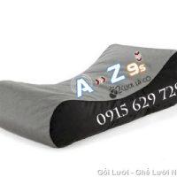 Gối lười hạt xốp kiểu giường lười GL036 phối màu Xám – Đen (Chất liệu Nhung lạnh hàn quốc)