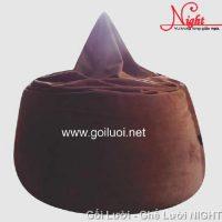 Gối lười hạt xốp hình giọt nước màu Nâu GL109 (Chất liệu Nhung lạnh hàn quốc) Size S