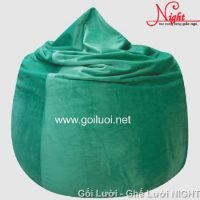 Gối lười hạt xốp hình giọt nước màu xanh lá GL019 (Chất liệu Nhung lạnh nhập khẩu) Size S