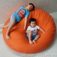 Ghế lười Trụ tròn (hình trứng) màu da cam GL022 Kate Phi Size S