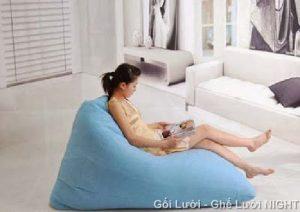 Gối lười Kim Tử Tháp màu Xanh ngọc GL0102 (Chất liệu Kate phi mát lạnh) Size M