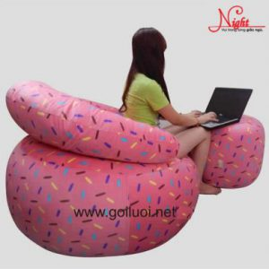 Ghế lười Sofa có tựa lưng Size L (Cỡ đại)