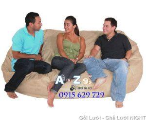 Ghế Sofa GL038 (Chất liệu Kate Phi) màu Đen, cỡ đại ngồi cho nhiều người