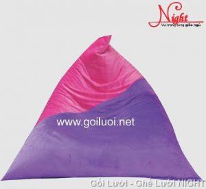 Gối lười hạt xốp hình kim tự tháp phối màu sang trọng (Chất liệu Nhung Cao Cấp) GL041